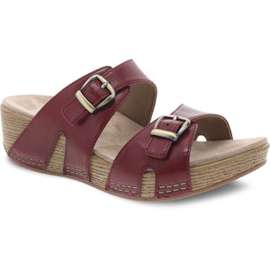 Dansko Leeann Sandal - Red Burnished Calf