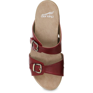 Dansko Leeann Sandal - Red Burnished Calf Top