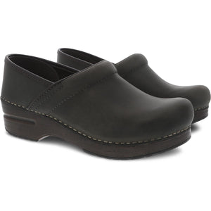 Dansko Professional Clog - Moss Oiled Pull Up Pair