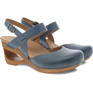 Dansko Taci Mary Jane - Denim Waxy Calf Pair