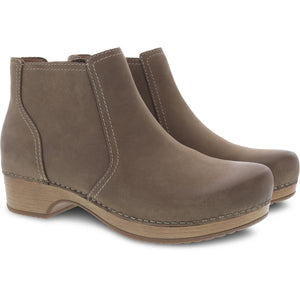 Dansko Barbara Boot - Taupe Burnished Nubuck 2