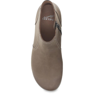 Dansko Barbara Boot - Taupe Burnished Nubuck Top