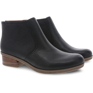 Dansko Becki Ankle Boot - Black Waterproof Tumbled 2