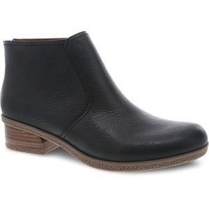 Dansko Becki Ankle Boot - Black Waterproof Tumbled