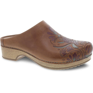 Dansko Brenda Clog - Tan Waxy Burnished