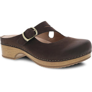 Dansko Britney Clog - Chocolate Burnished Nubuck