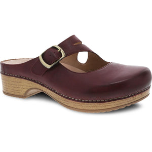 Dansko Britney Clog - Wine Waxy Burnished