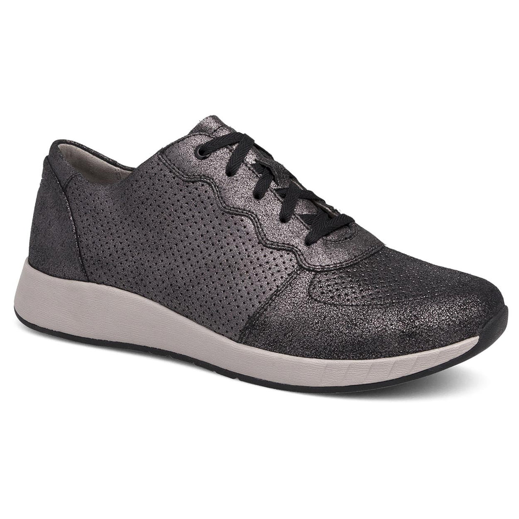 Dansko Christina Sneaker - Black Metallic Leather