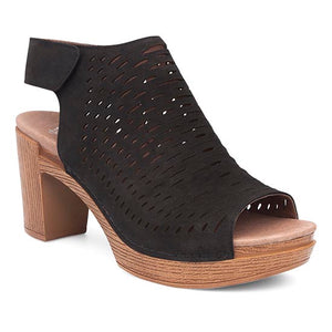 Dansko Danae Sandal - Black Nubuck Leather