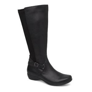 Dansko Francesca Boot - Black Milled Nappa