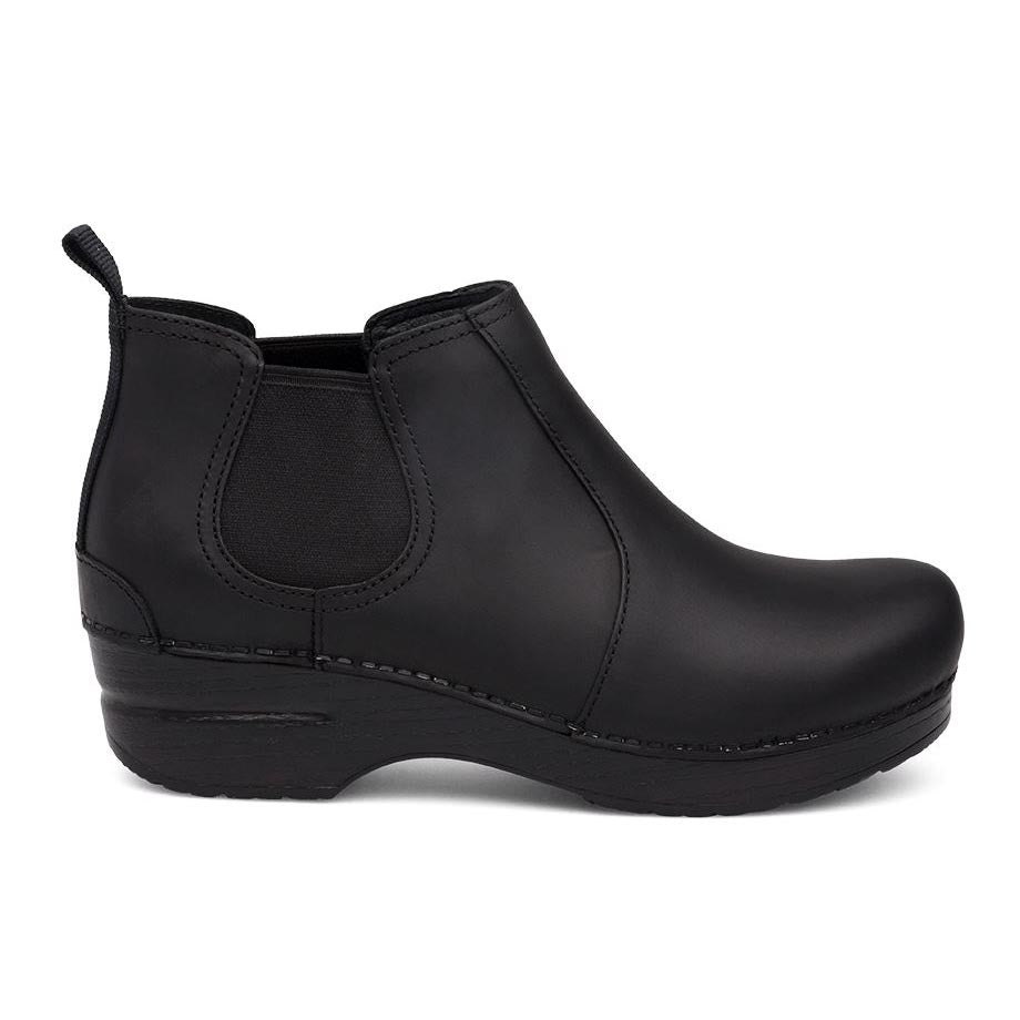 Dansko Frankie Ankle Boot - Black Oiled Leather