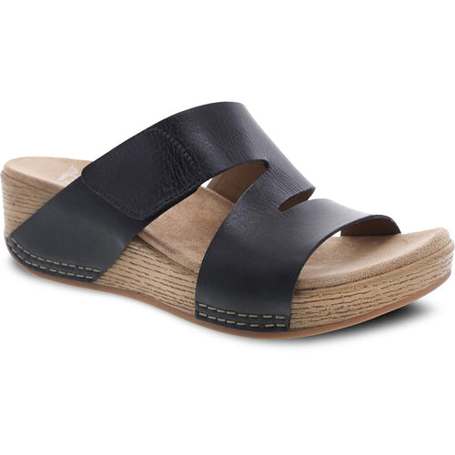 Dansko Lacee Sandal - Black Burnished Leather