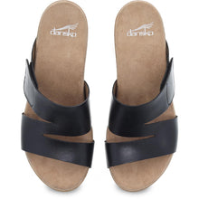 Dansko Lacee Sandal - Black Burnished Leather Top View