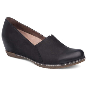 Dansko Liliana Wedge - Black Burnished Nubuck