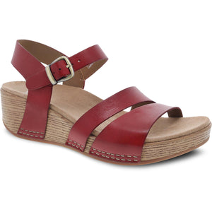 Dansko Lindsay Sandal - Red Burnished Leather