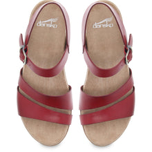 Dansko Lindsay Sandal - Red Burnished Leather Top View