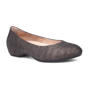 Dansko Lisanne Ballet Flat - Pewter Textured Leather