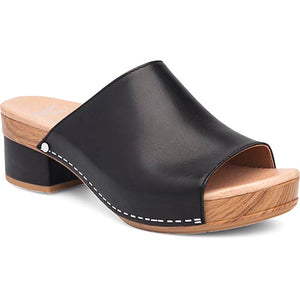 Dansko Maci Sandal - Black Full Grain Leather