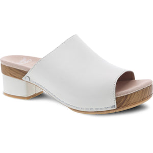 Dansko Maci Sandal - Ivory Full Grain Leather