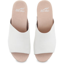 Dansko Maci Sandal - Ivory Full Grain Leather Top View