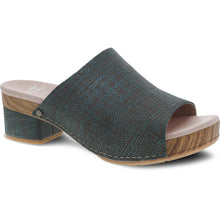 Dansko Maci Sandal - Teal Textured Leather