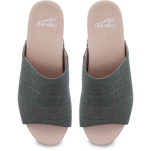Dansko Maci Sandal - Teal Textured Leather Top View