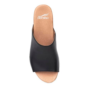 Dansko Maci Sandal - Black Full Grain Leather Top View