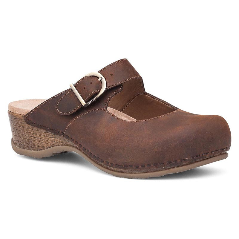 Dansko Martina Clog - Brown Antique Oiled
