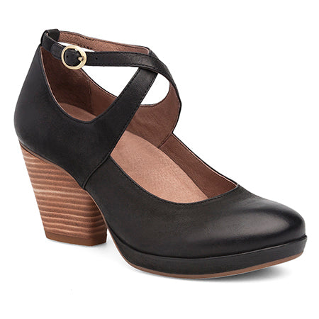 Dansko Minette  - Black Burnished Nubuck