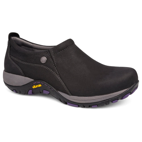 Dansko Patti Silp On - Black Milled Nubuck