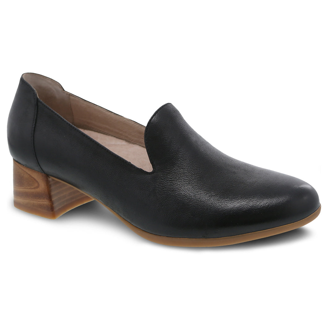 Dansko Preston Loafer - Black Burnished Nubuck