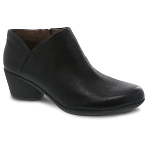 Dansko Raina Bootie - Black Burnished Nubuck