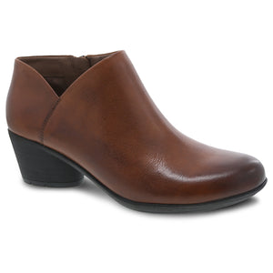 Dansko Raina Bootie - Chestnut Burnished Nubuck