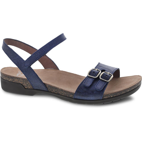 Dansko Rebekah Sandal - Navy Waxy Burnished Leather