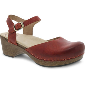 Dansko Sam - Coral Waxed Burnished Leather