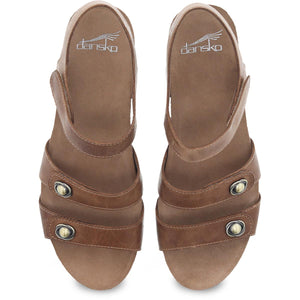 Dansko Savannah Sandal - Tan Waxy Burnished Leather Top View
