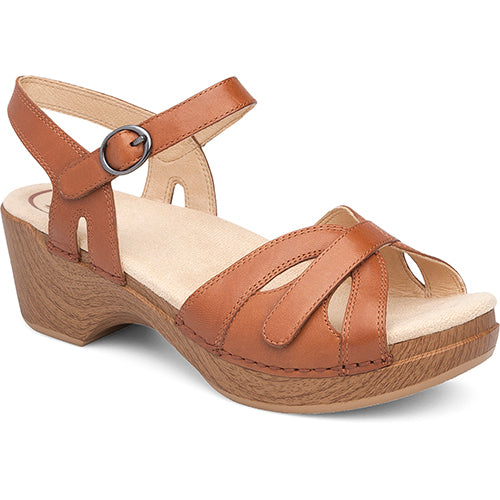 Dansko Season Sandal - Camel Full Grain Leather