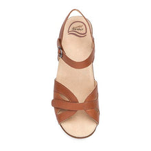 Dansko Season Sandal - Camel Full Grain Leather Top View