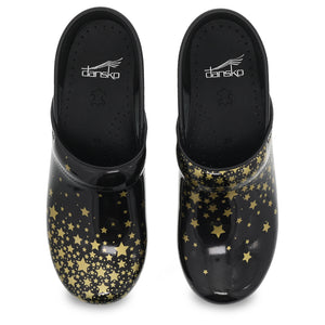 Dansko Twin Pro Clog - Falling Stars Patent Leather - Top View