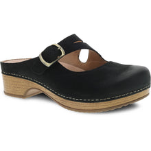 Dansko Britney Clog - Black Burnished Nubuck Leather