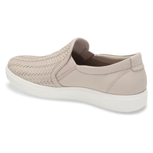 Ecco Soft 7 Woven Slip-On - Grey Rose back