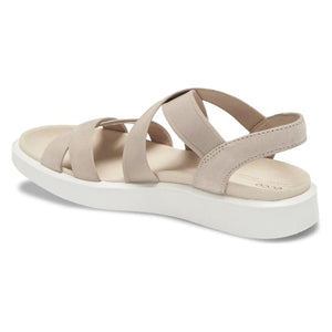 Ecco FlowT Strappy Sandal - Grey Rose back