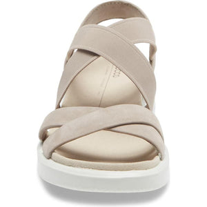 Ecco FlowT Strappy Sandal - Grey Rose front