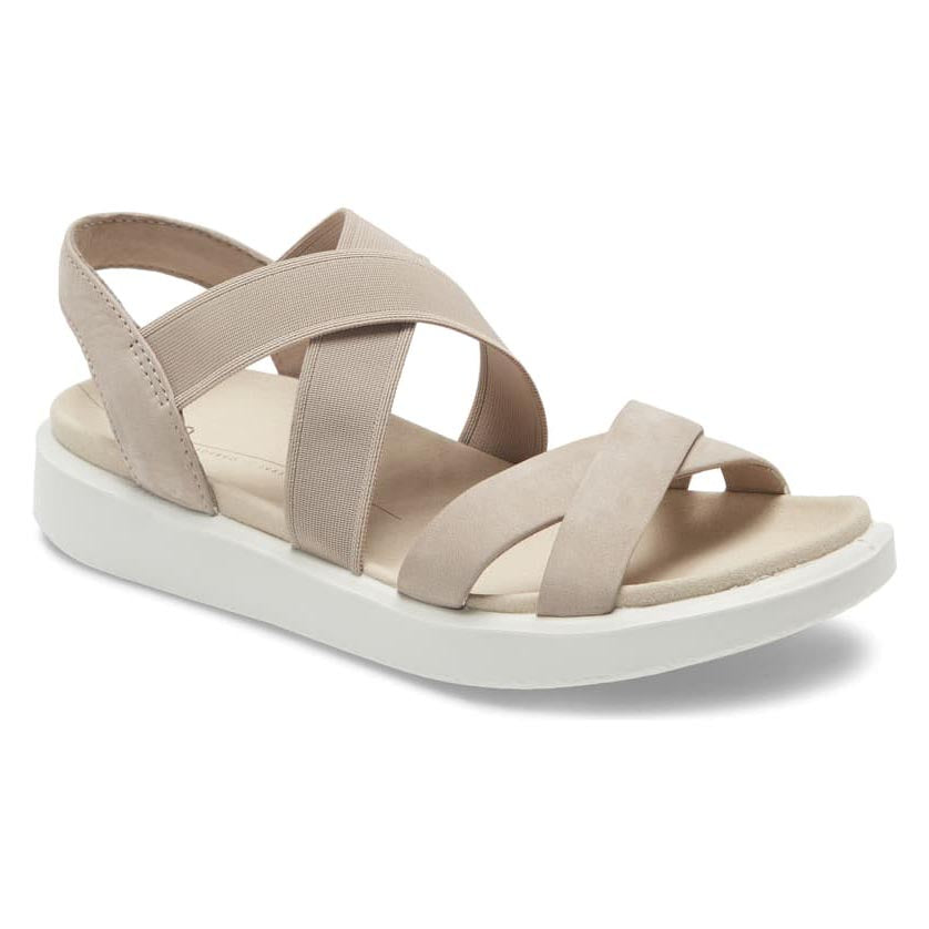 Ecco FlowT Strappy Sandal - Grey Rose