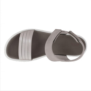 Ecco Flowt W Strap Sandal - Moon Rock Silver / Warm Grey Metallic