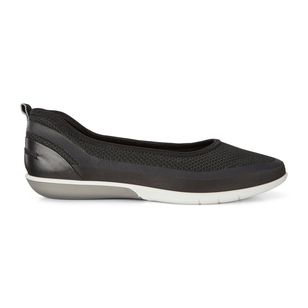 Ecco Sense Light Ballerina Flat - Black