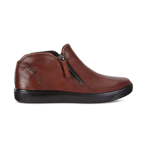 Ecco Soft 7 Low Bootie - Cognac