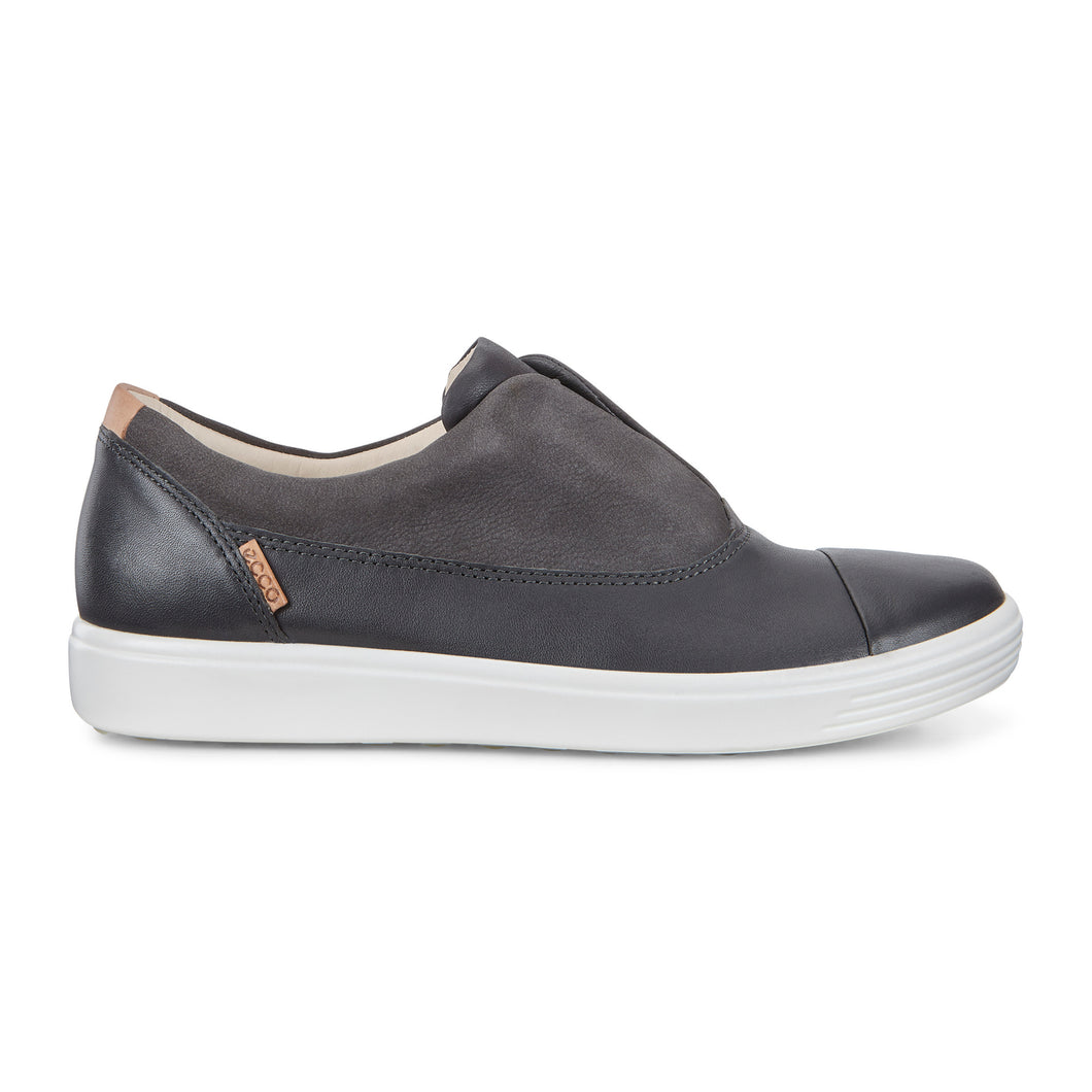 Ecco Soft 7 Slip On II Sneaker - Dark Shadow / Moonless