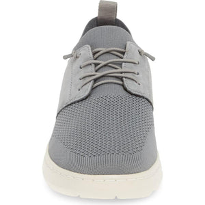Johnston & Murphy Farley Plain Toe - Gray Oiled Nubuck / Knit Mesh front