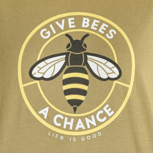 Life is Good Women's Give Bees a Chance Cropped T-Shirt